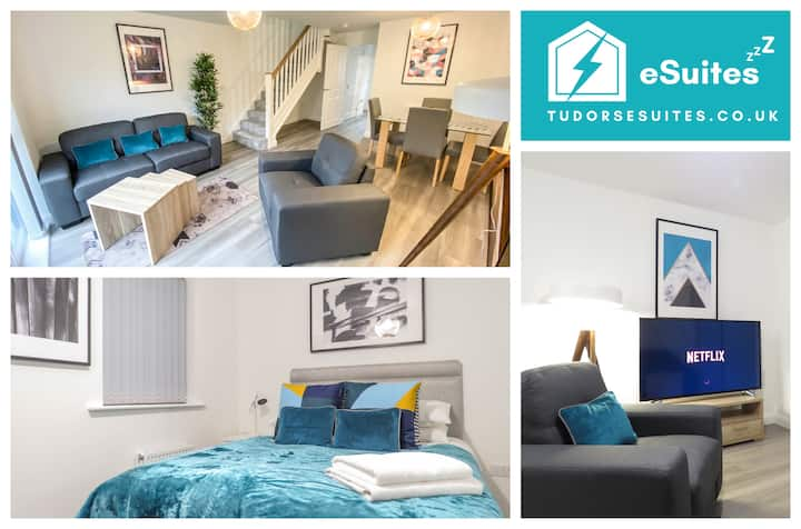 🌟Tudors eSuites🌟 2 Bedrooms👩‍💻Parking👔Private Garden