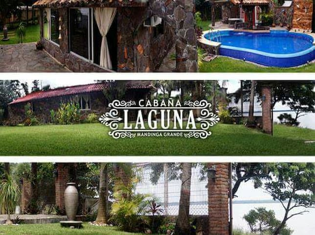 Cabaña con alberca frente a Laguna - la laguna medellin - Houten huisje