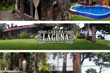 Cabaña con alberca frente a Laguna - la laguna medellin