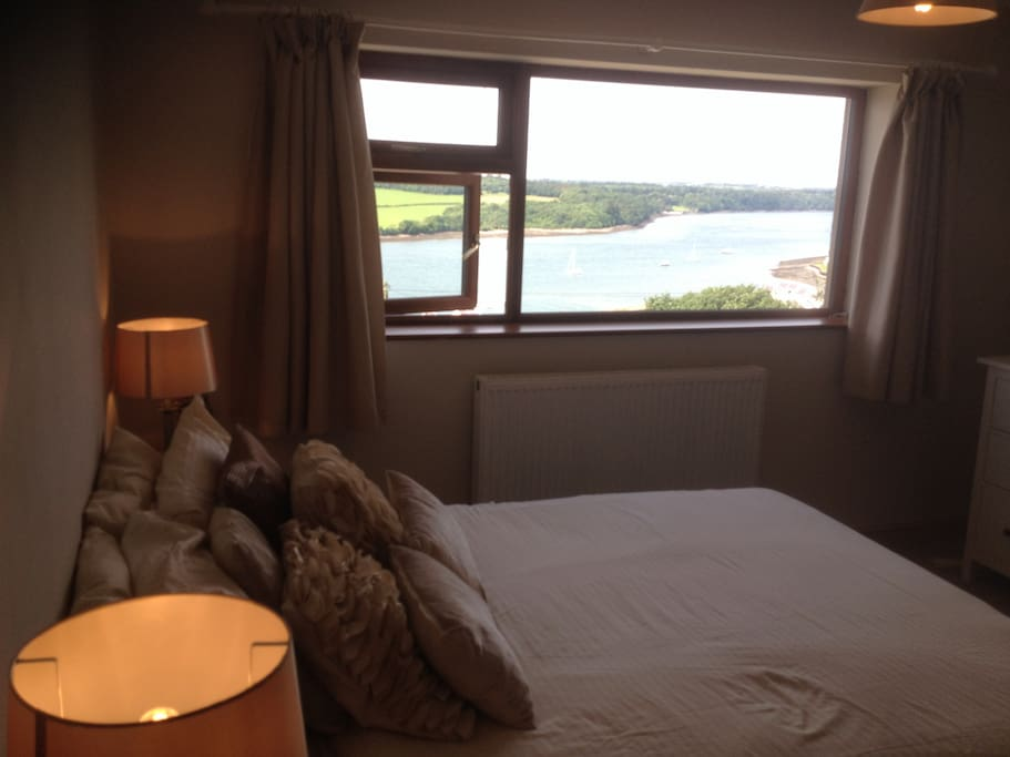 Views over the Menai Straits from the bedroom