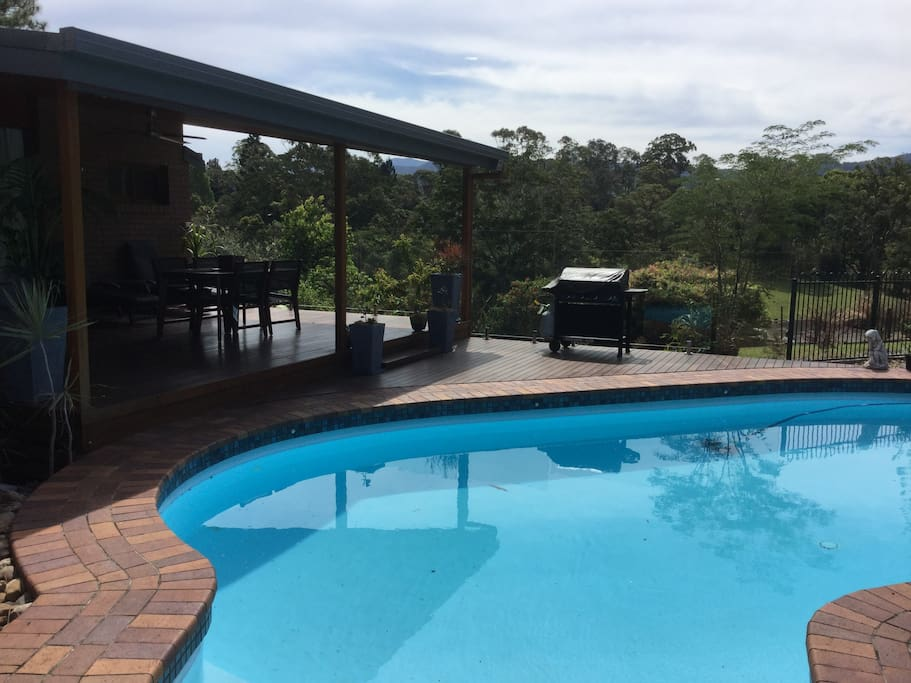 Pool, large north facing deck with BBQ