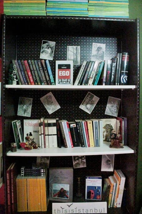 Entrance 3 - You can find English books for read in library.