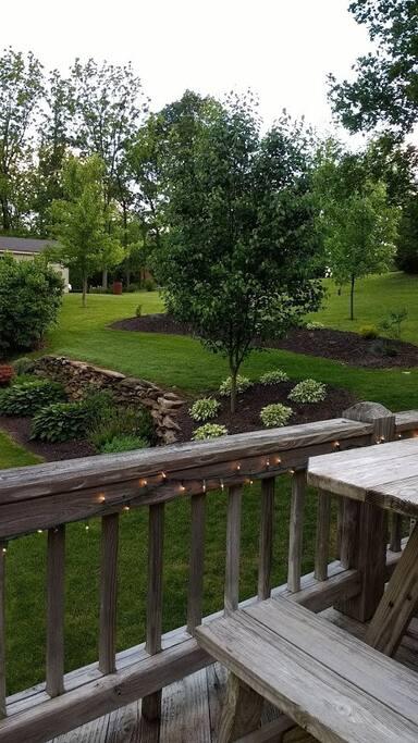 Back deck & yard