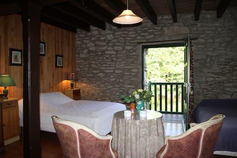 Chambre dans un ancien moulin