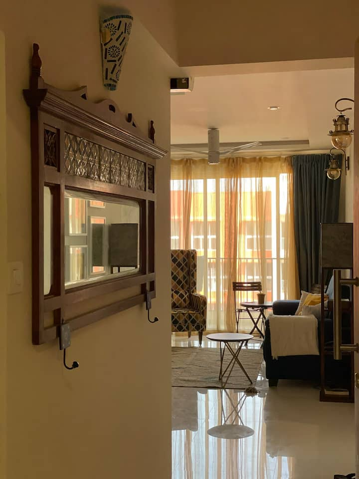 Tastefully done, modern, 2bedroom apartment in Goa