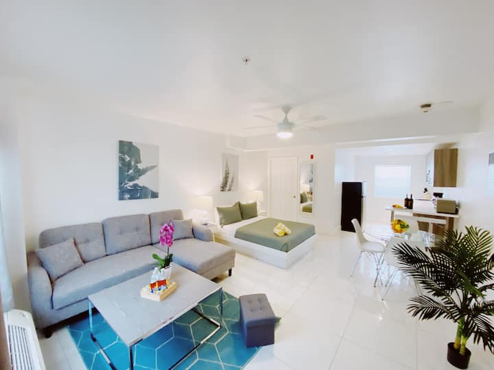Airy Modern Apartment Across From the Beach!