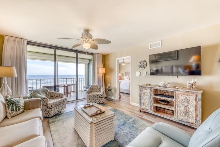 Waterfront condo w/ a hot tub, outdoor & indoor pools, & a private balcony!