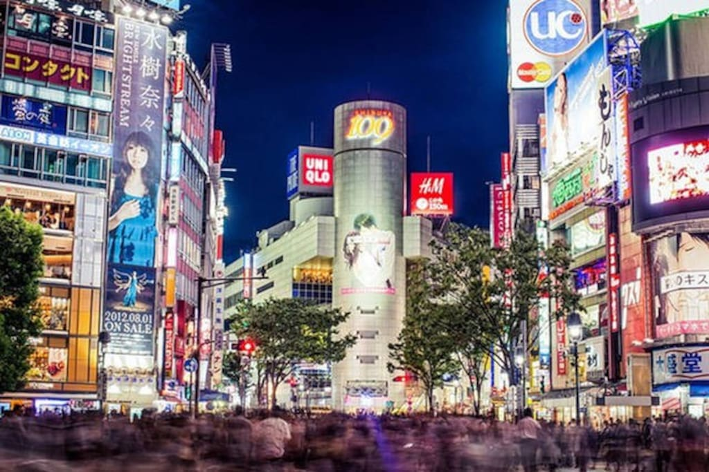 Shibuya Scramble Cross Road. There is 10mins by walk.