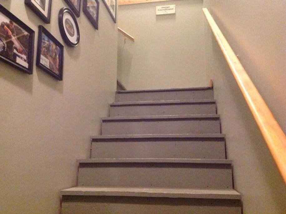 Two flights of stairs to climb. Please keep this in mind in case anyone in your party has mobility issues