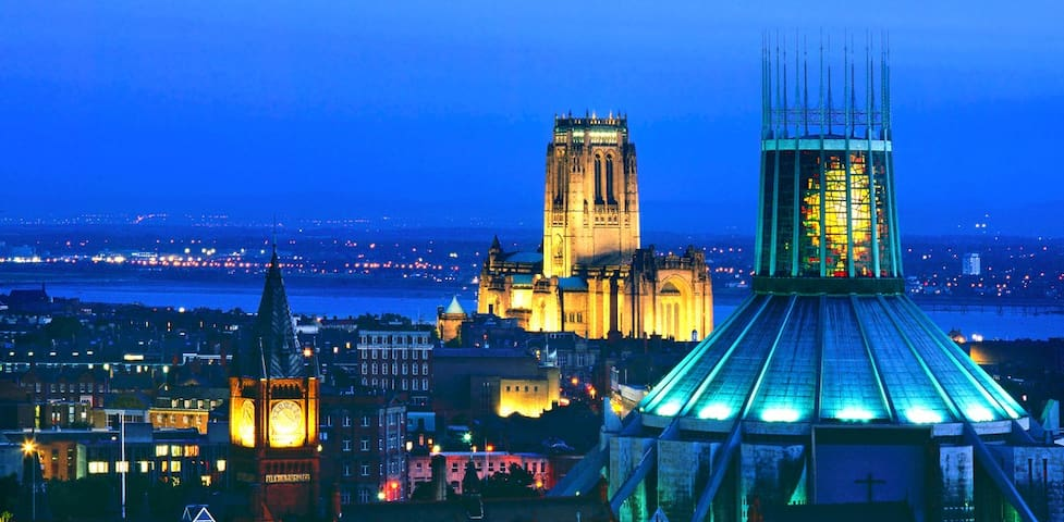 City Centre Cathedral-View apartment FREE PARKING - Liverpool - Byt