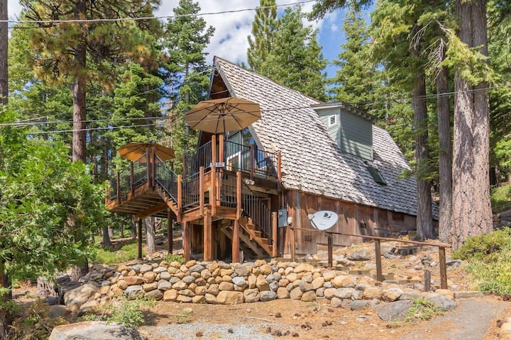 1884 Tahoe Park  · Classic Talmont A Frame Great View of Lake Tahoe!