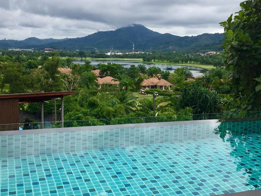 Private Pool overlooking to Lake and Golf course at Kathu, Phuket