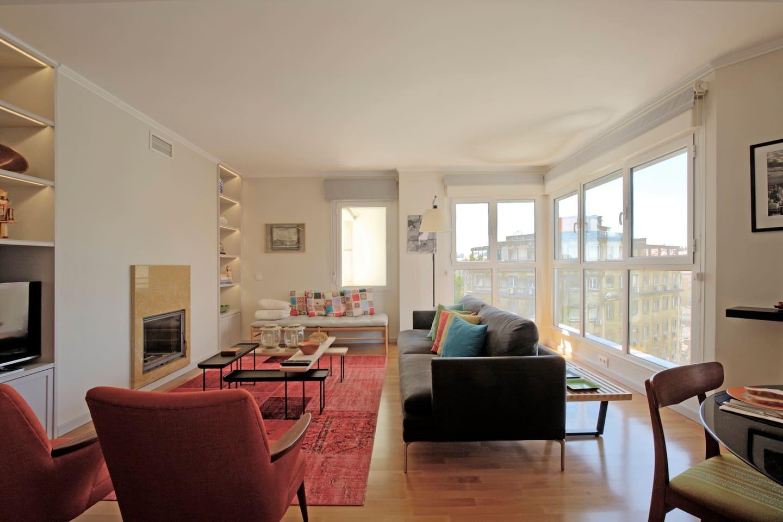 Amazing Living Room with Big Windows
