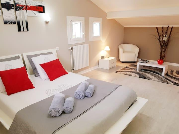 2 belles chambres confortables dans maison+piscine