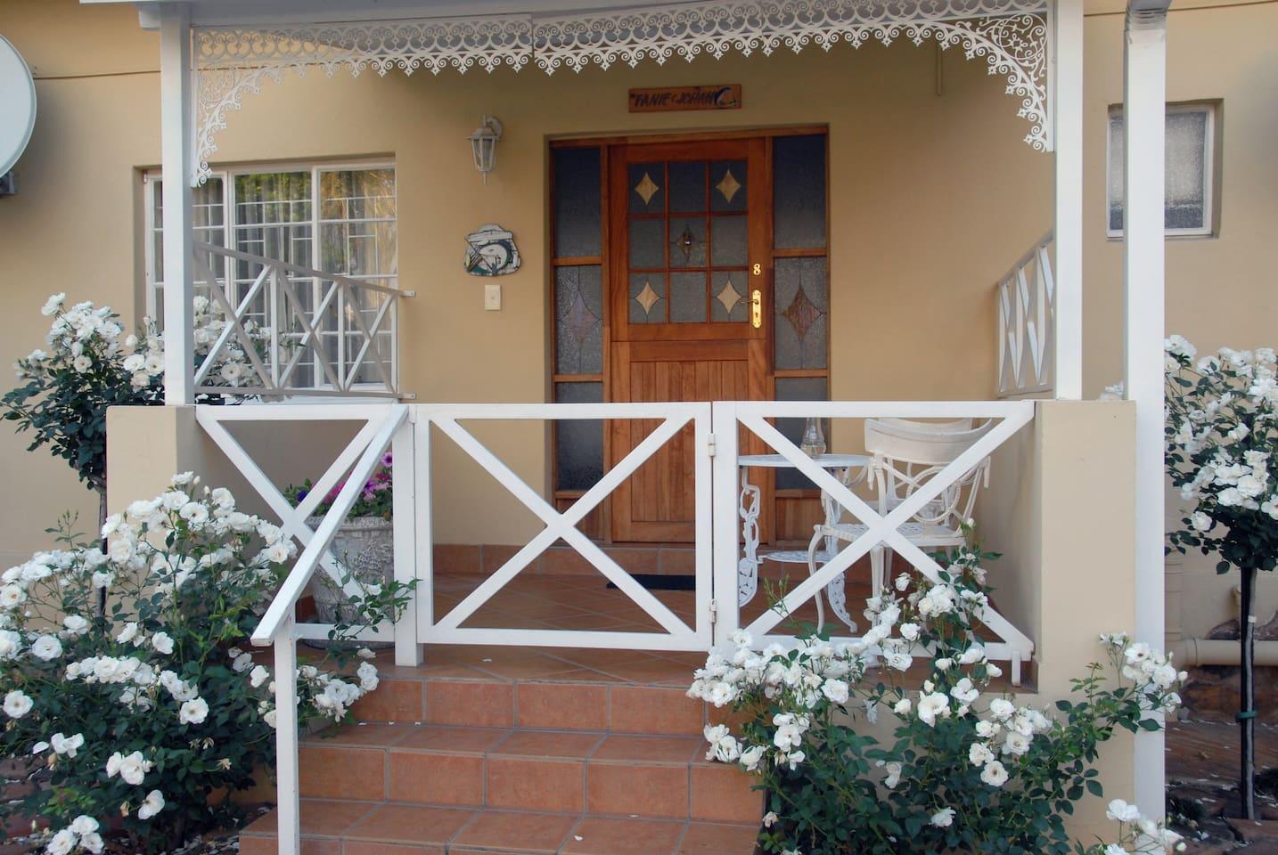 Private entrance with verandah