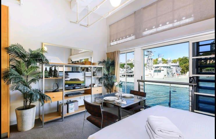 Woolloomooloo waterside apartment with harbor view