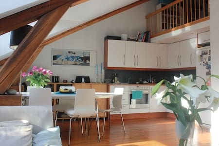 Share cool loft in hip neighborhood - Oslo - Appartement