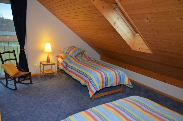 Twin-room under the roof with private shower/WC - Therwil - Casa