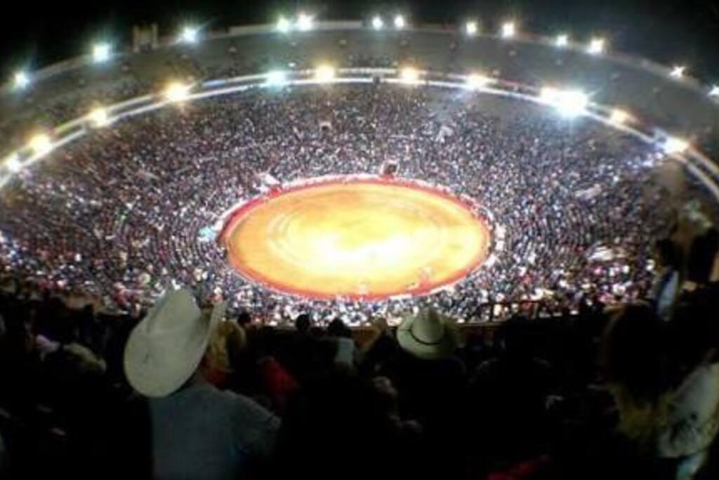 Plaza de Toros Mexico a una cuadra