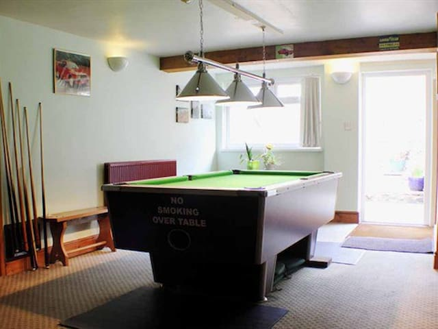 Our games room, leading out to the beer garden