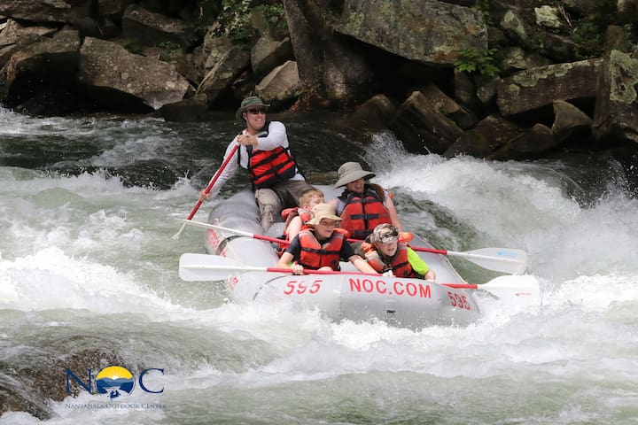 Whitewater rafting on the Nantahala River