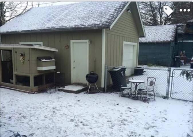 Detached Garage & Chicken Coop