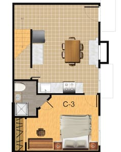 C-3 Master Bedroom with private bath - Riverside