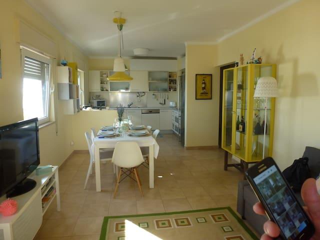 Living room in open space