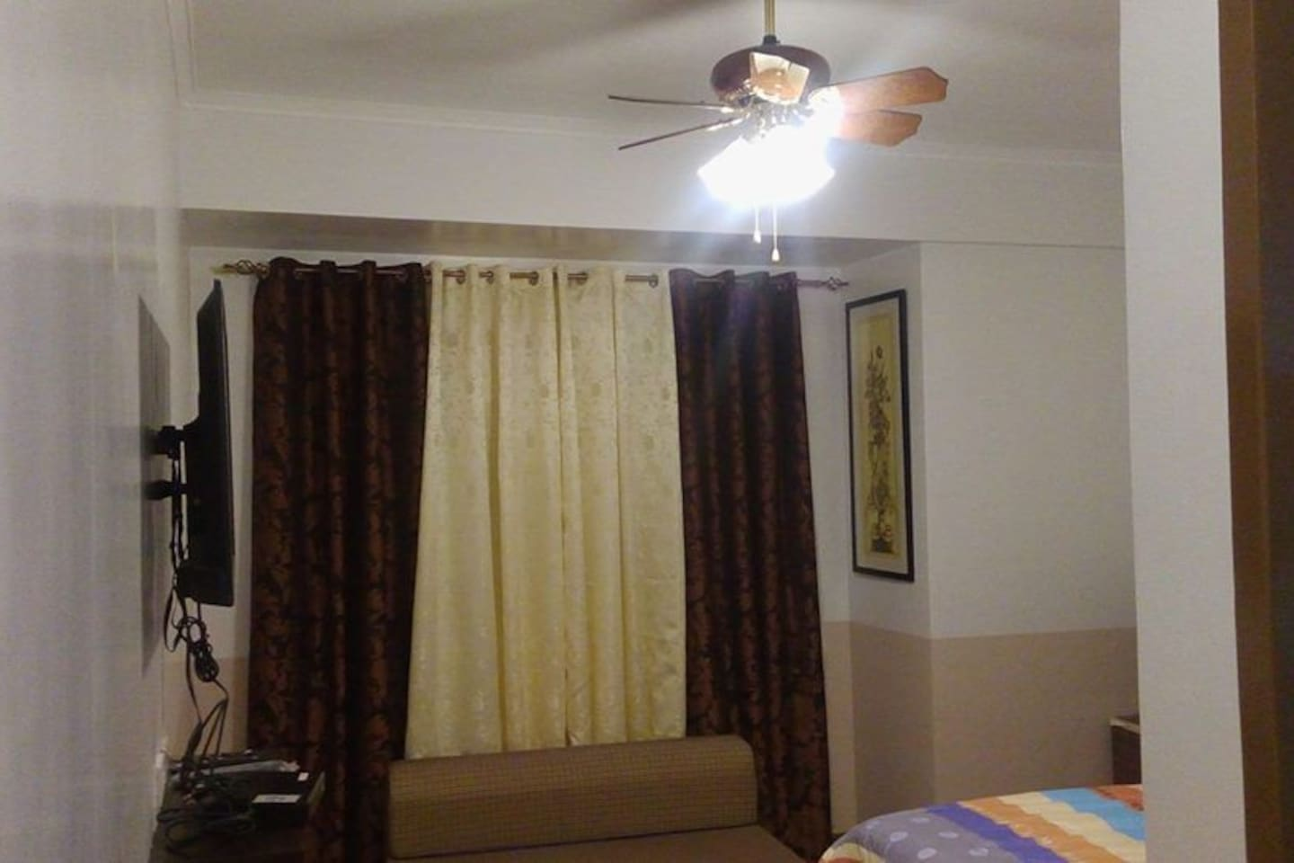 The main bed room with a queen sofa bed and king size bed. Additional floor bed is available upon request