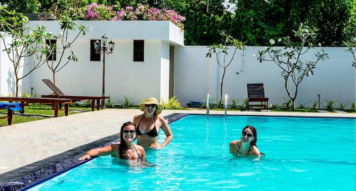 Triple room 5 with Pool @ Yala Park/Katharagama