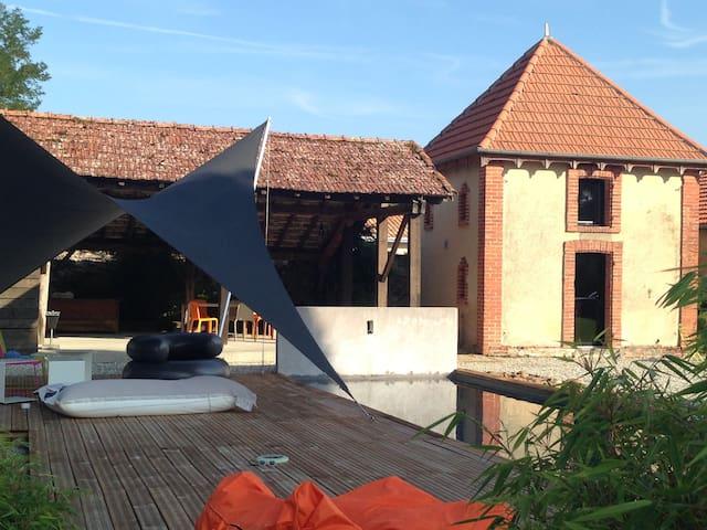 MAISON STANDING MODERNE PISCINE ET PARC PRIVES - Soustons - Casa