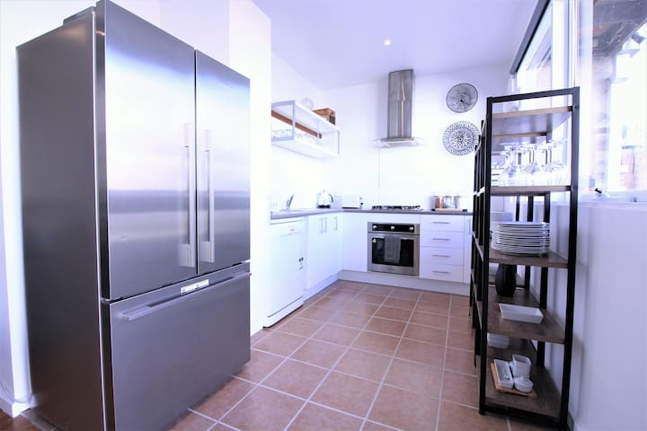 Kitchen with modern facilities for cooking your meals