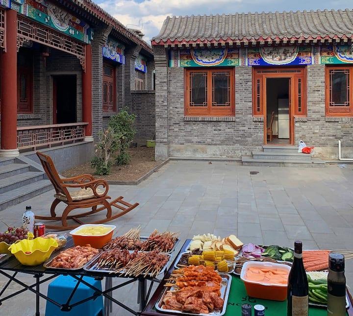 北京安居四合院民宿 团建烧烤BBQ 设备齐全