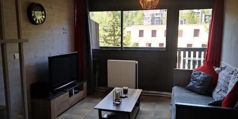 DUPLEX T2 PRALOUP 1600, tout confort, 6 pers.