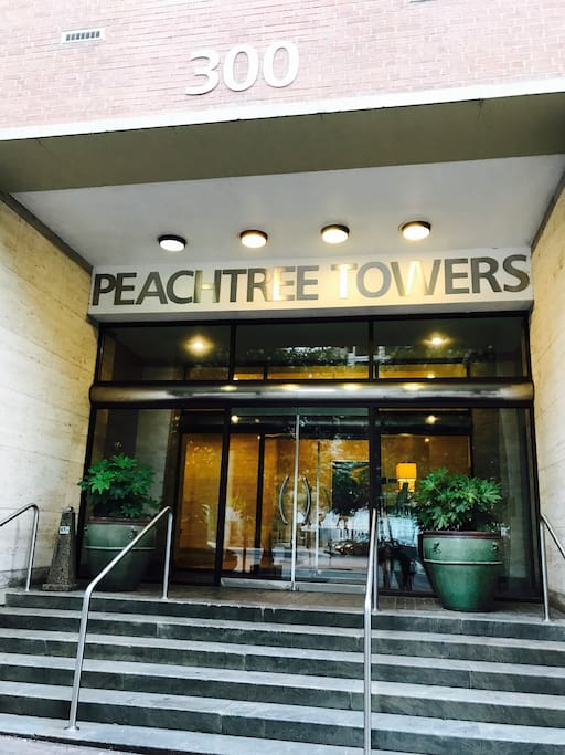 Main entrance to Peachtree Tower