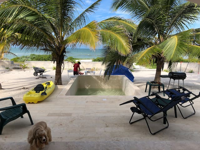 Beachfront House with pool in San Bruno, Progreso