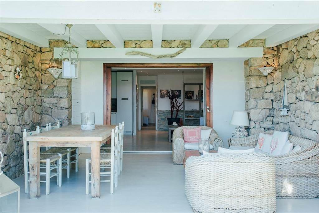 External living room