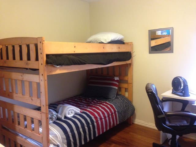 Bunk beds private bedroom