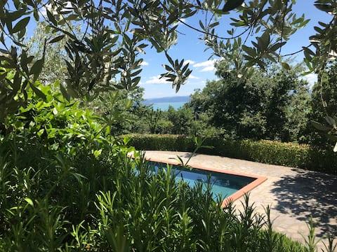 Villa Lake Trasimeno Cortona 4peopl