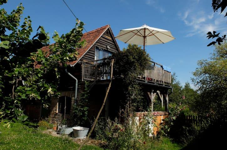 Backsteinhäuschen mit Ausblick - Uckermark - Gerswalde - Rumah
