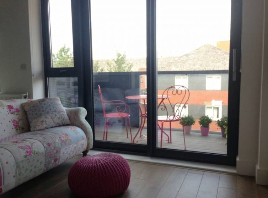 Balcony accessible from living room