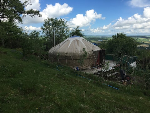 New 8-legged Yurt-cap has just been purchased and replaces the previous 5-legged version . . . MUCH better!
