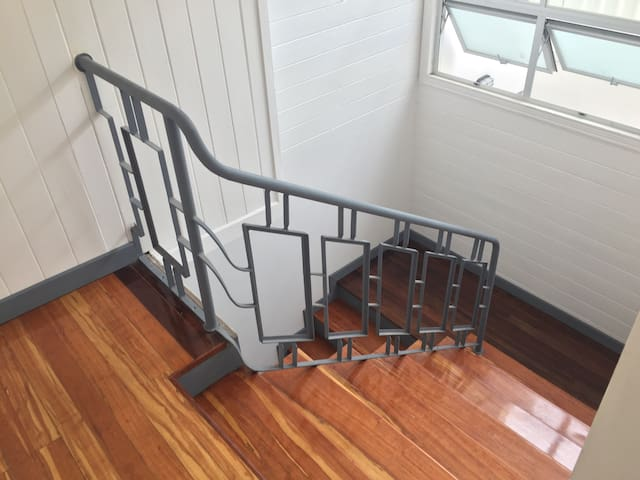 Stairs to the second floor where your room is located