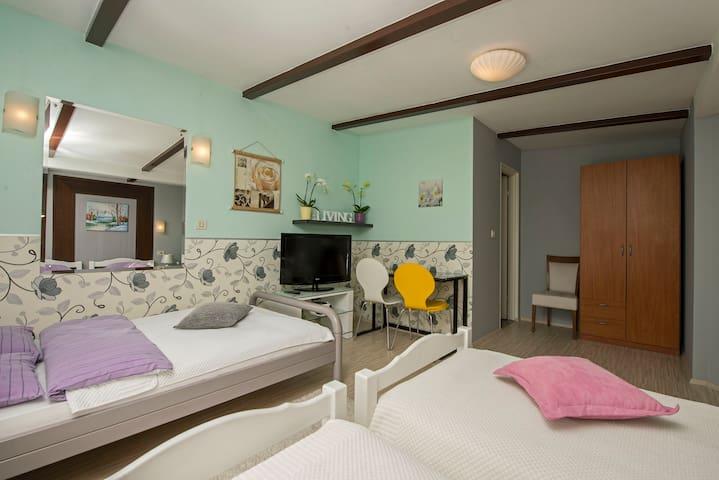 Modern triple room in Zagreb center - Zagabria - Bed & Breakfast