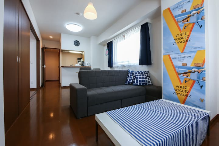 Next to Tsukiji! Near GINZA. 6ppl. w/mWiFi. 53㎡! - Chuo - Appartement