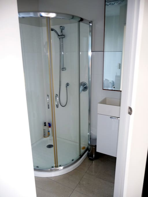 En suite bathroom, includes toilet