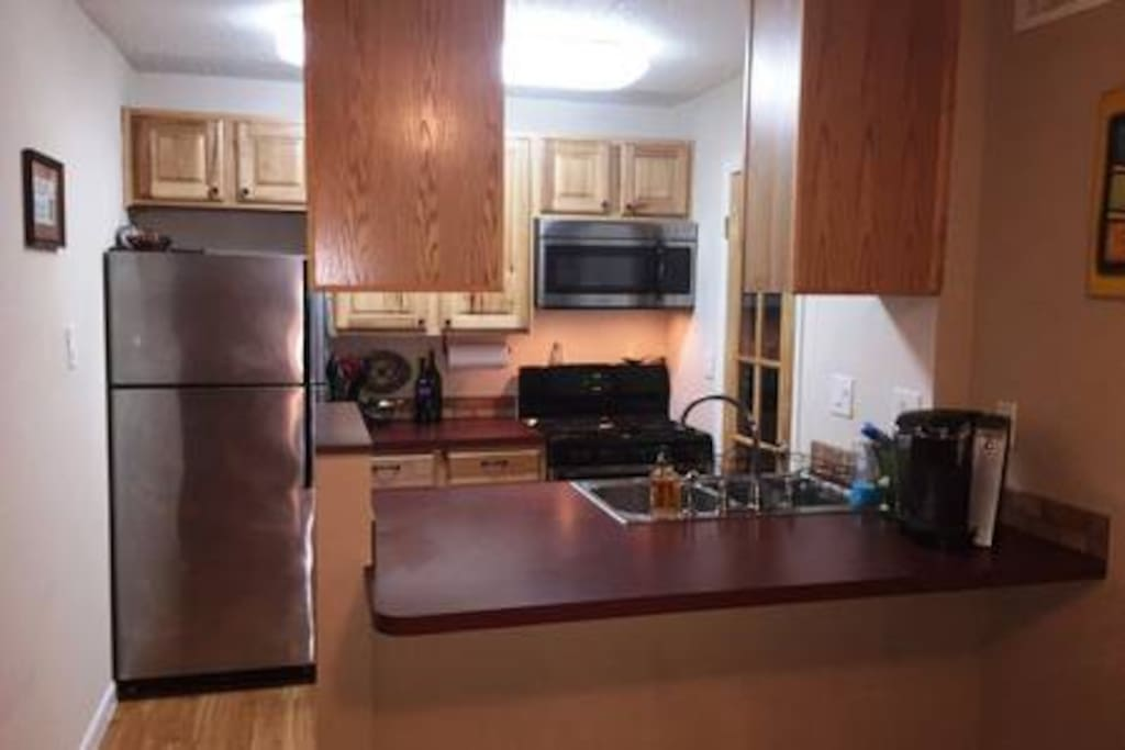Open concept kitchen and counter work space