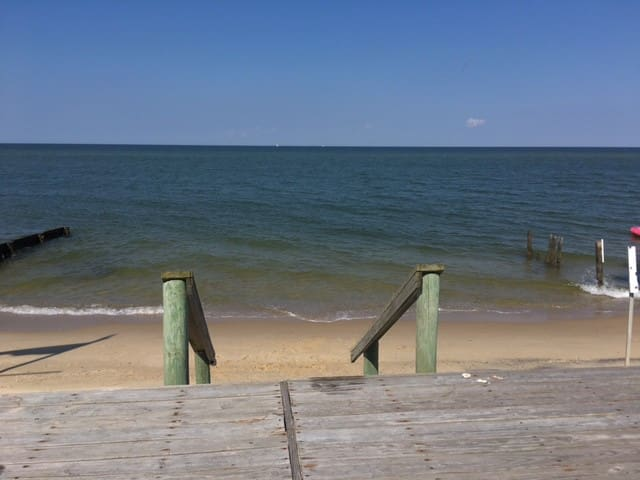 Private beach with boardwalk right off the house!