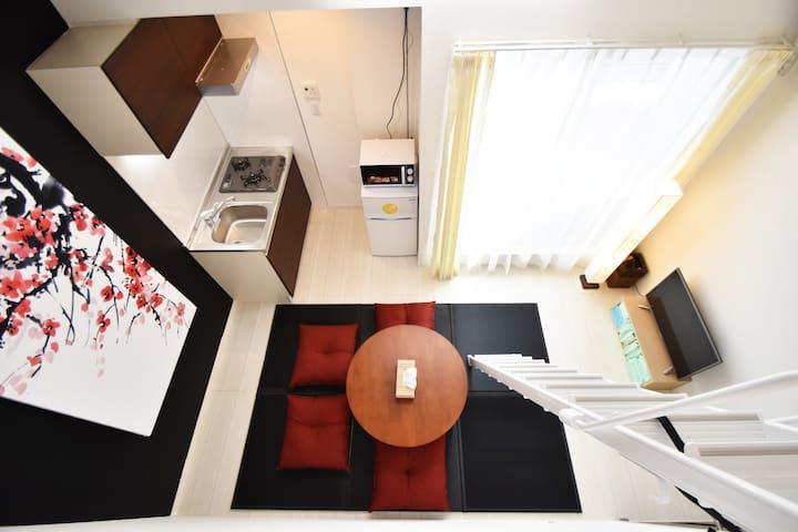 Heart of Ikebukuro 6p Cozy APT, 6min to Shinjuku! - Toshima-ku - Apartment