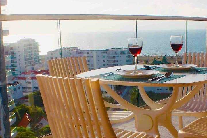 Apartamento Nuevo con Vista al Mar-Jacuzzi privado